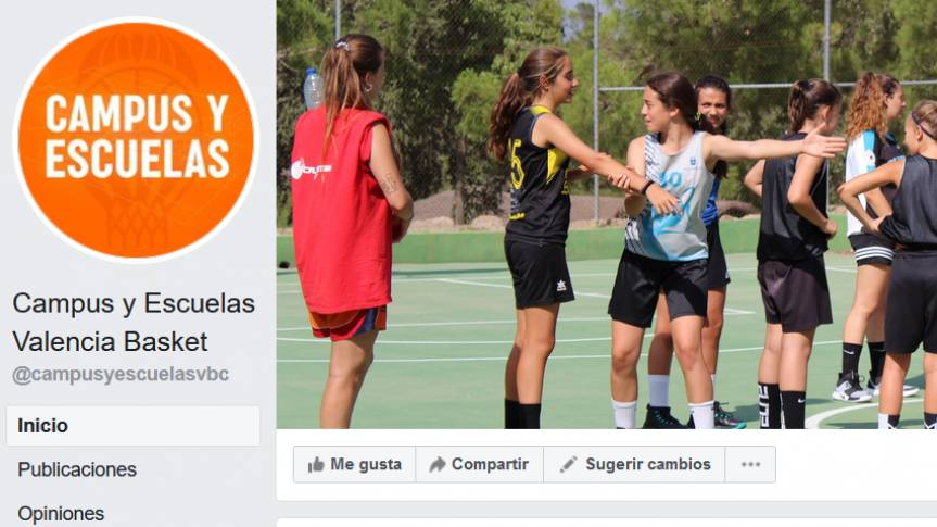 Valencia Basket Camps and Schools, launch their own accounts on Facebook and Instagram