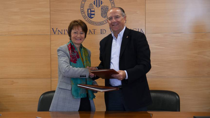 L'Alqueria del Basket and the University of Valencia sign the first basketball demonstration