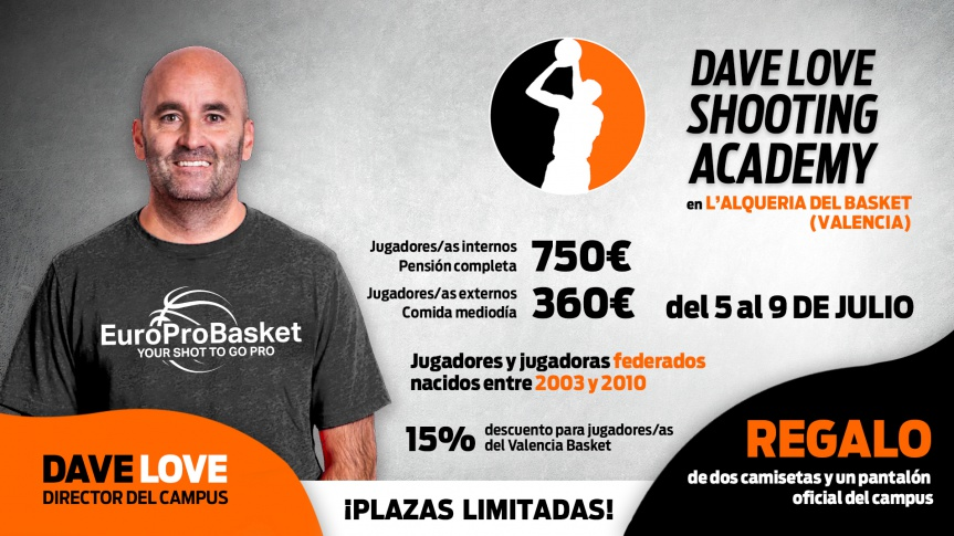 Dave Love's Shooting Academy lands in L'Alqueria del Basket